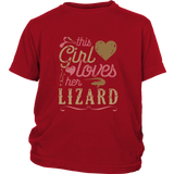 This Girl Loves Her Lizard - Reptile Lover Shirt Lizards Dragons