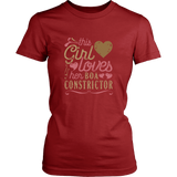 This Girl Loves Her Boa Constrictor - Snake Lover Reptile Shirt And Gift