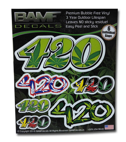 420 Slap Pack - Includes 6 Individual Slaps