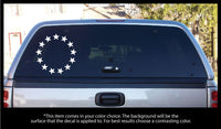 Betsy Ross 13 Stars Circle Decal
