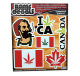 Canadian Pride Marijuana Leaf Flag Smokers Sticker Kit #1