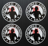Eat Sleep Kill Zombies - Splattered Kill Count Kit Includes 5 Premium Printed Decals