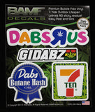 Dab Kit #1 Includes 4 Premium Printed Decals
