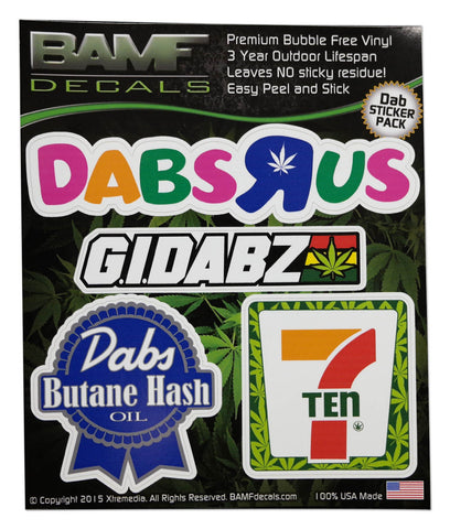 Dab Logo Spoof 710 Includes 4 Premium Printed Decals