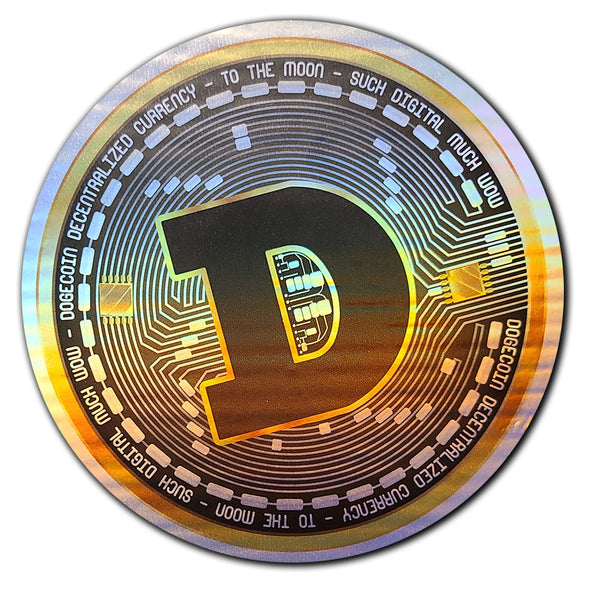2 - DOGECOIN Holographic Stickers