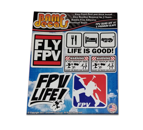 FPV Life Major League Kwads Life is Good Sticker Kit #1