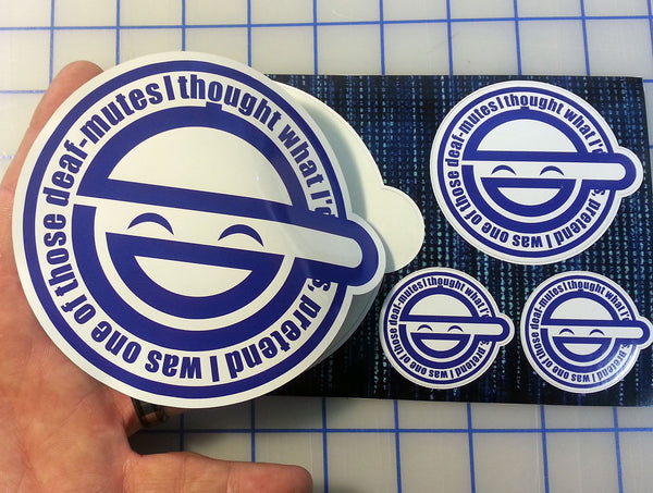 Laughing Man GITS Printed Sticker Kit - Includes 4 Premium Printed Decals