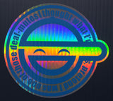 Laughing Man Premium Holographic Foil Two Layer Decal