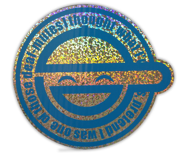 Laughing Man Premium Holographic Sparkle Foil Two Layer Decal