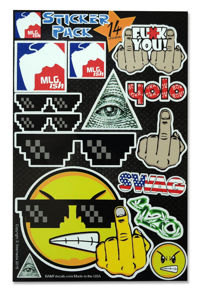 MLGish Sticker Kit - Includes 14 Premium Stickers