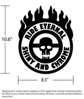 Ride Eternal, Shiny and Chrome! War Boy Flaming Steering Wheel Decal