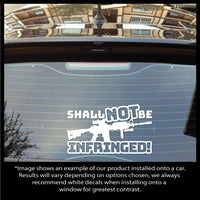 Shall NOT Be INFRINGED! M4 Rifle Shape 2nd Amendment Decal