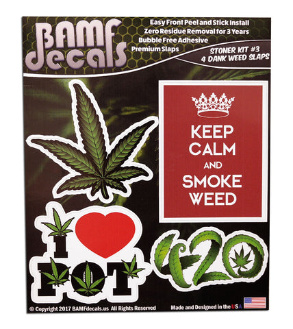 Stoner Kit #3 - Includes 5 Premium Printed Slaps