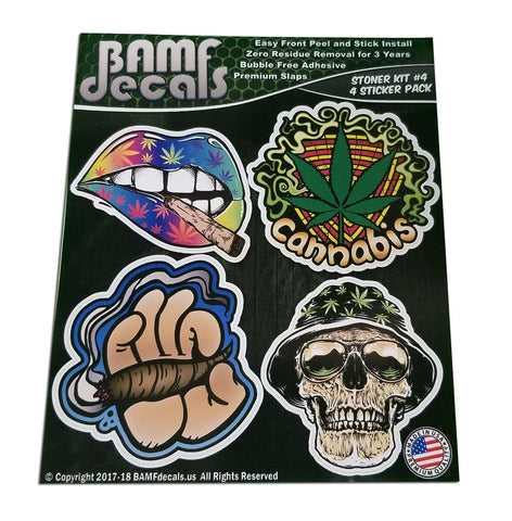 Stoner Kit #4 - Includes 4 Premium Printed Slaps