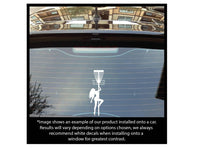 Standing Tall Stripper Basket Decal w/ Discatcher Style Detail