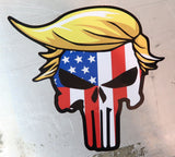 Trumpunisher Blonde Toupe US Punisher Sticker