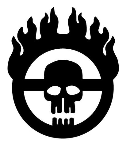War Boy Flaming Steering Wheel Decal