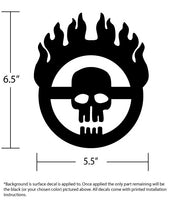 Premium Brushed Steel War Boy Steering Wheel Decal