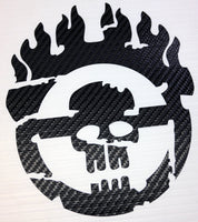Premium Carbon Fiber War Boy Steering Wheel Decal