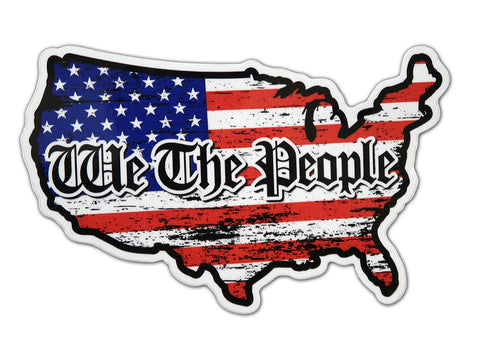 We The People Grunge Lower 48 Country Flag