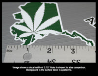 Alaska State Legal Weed Lovers Decal Kit - Includes 5 Premium Stickers