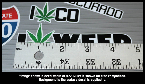 Colorado State Legal Weed Lovers Decal Kit - Includes 5 Premium Stickers
