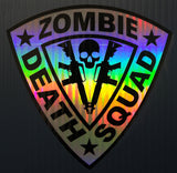 Zombie Death Squad Twin AR-15 Shield Premium Holographic Foil Two Layer Decal