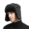 Shearling Sheepskin Pilot Aviator Russian Ushanka Winter Trapper Hat