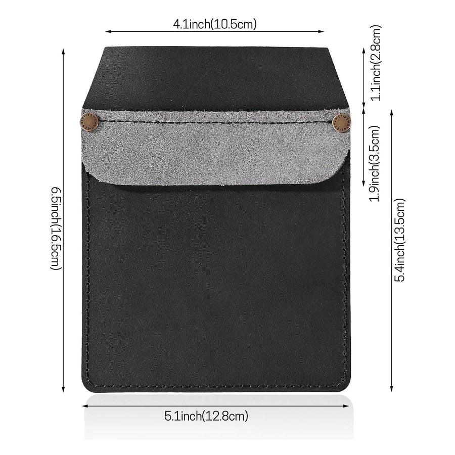 20.IKEPOD Vegetable Tanned Leather Work Pocket Organizer