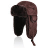 31.Shearling Sheepskin Aviator Russian Ushanka Winter Hunting Trapper Hat