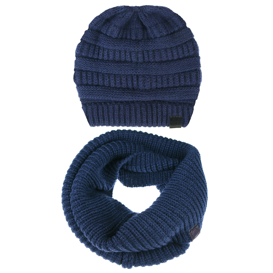 Merino Wool Winter Warm Beanie Circle Loop Scarves