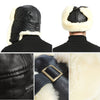 33 Shearling Sheepskin Sheep Leather Aviator Russian Winter Fur Men Trapper Hat