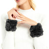 30 Real Rabbit Fur Short Wrist Cuff Warmers