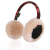 15.IKEPOD Kids Australian Sheepskin Wool Earmuffs