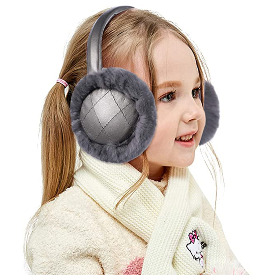 26.IKEPOD Kids Rabbit Fur Earmuffs
