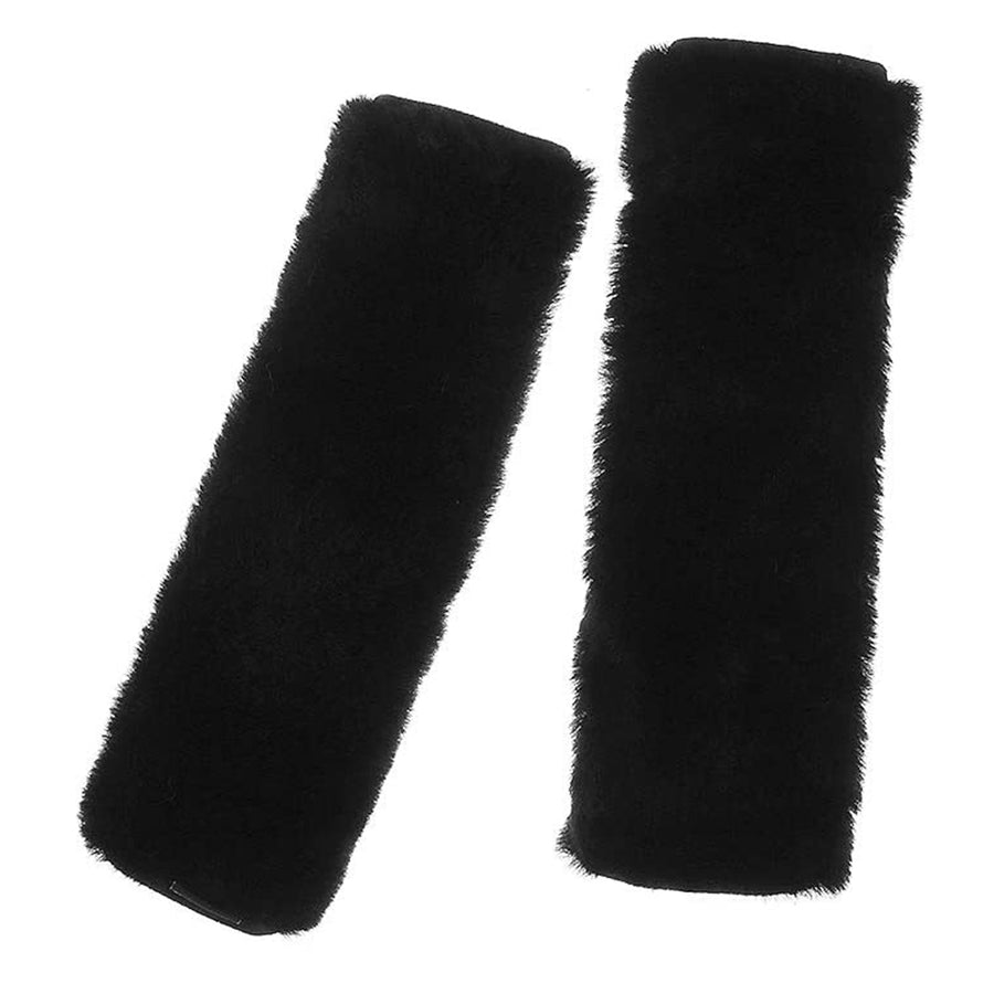 24.Authentic Sheepskin Seatbelt Cover 2 Pack