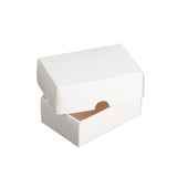 Cardboard Business Card Boxes - Two Part White