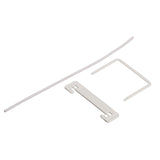 Medical Filing Clips White