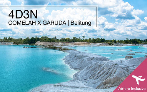 【2nd pax $100 OFF!】3D2N/4D3N/5D4N Belitung all-in Package with Garuda Airfare, Indonesia