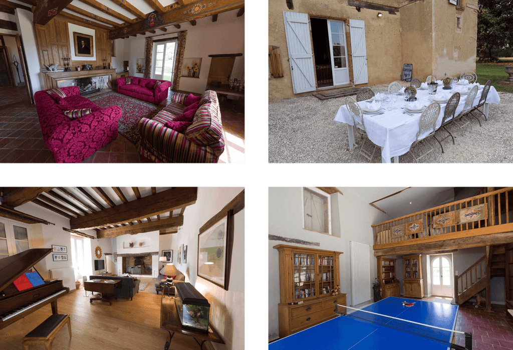 images of rooms at the chateau de combis