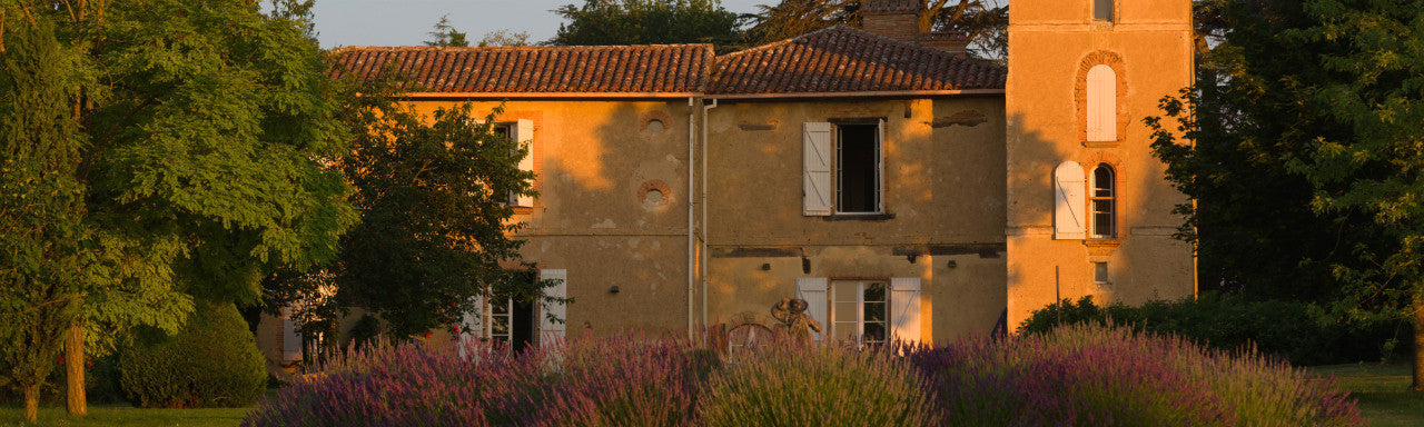 Photo of Chateau de Combis in warm evening light