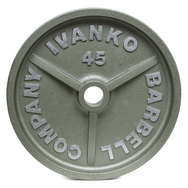 Ivanko OM Series 45 lb. machined barbell plate