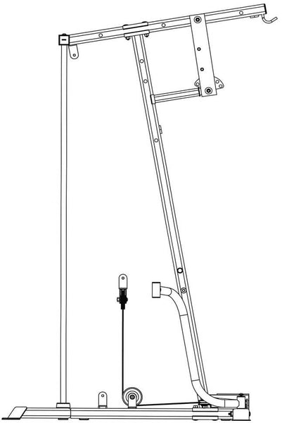 IVK-2155 Ivanko Home Gym butterfly cable loop diagram