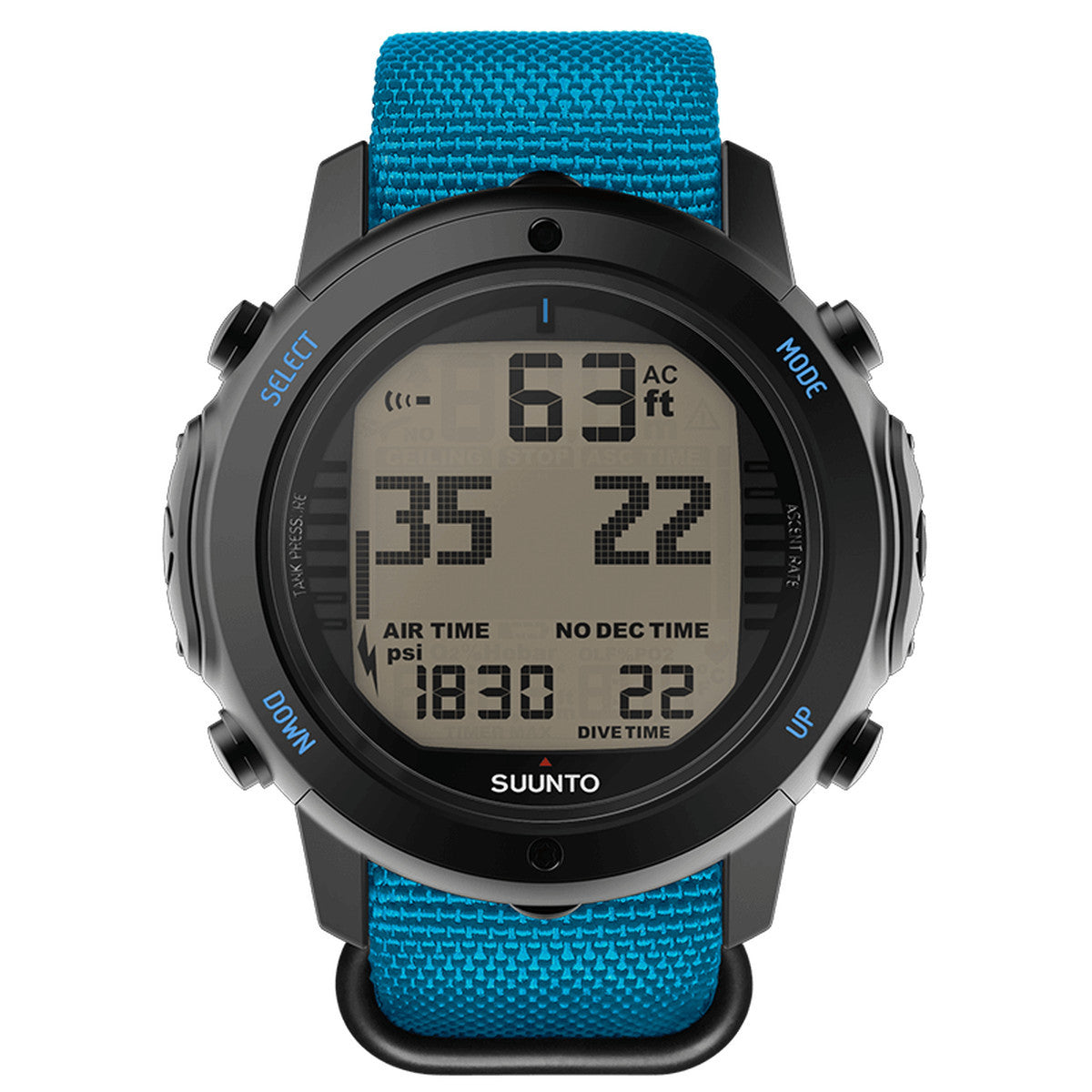 Suunto D6i Novo Zulu + USB Computer - Instructor Blue - Oyster Diving Shop - 1