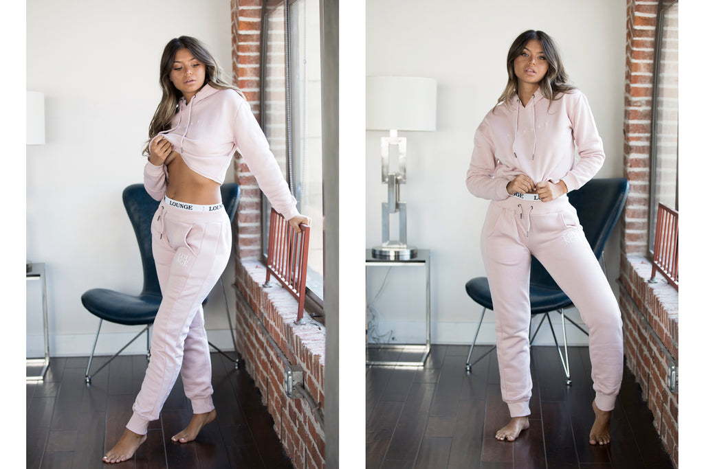 Lounge Appare | Pink Tracksuit