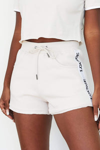 Cream High Waisted Shorts