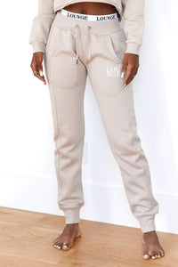 Mink Fitted Joggers