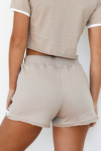Mink High Waisted Shorts