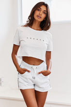 Load image into Gallery viewer, Ash White Cropped T-Shirt
