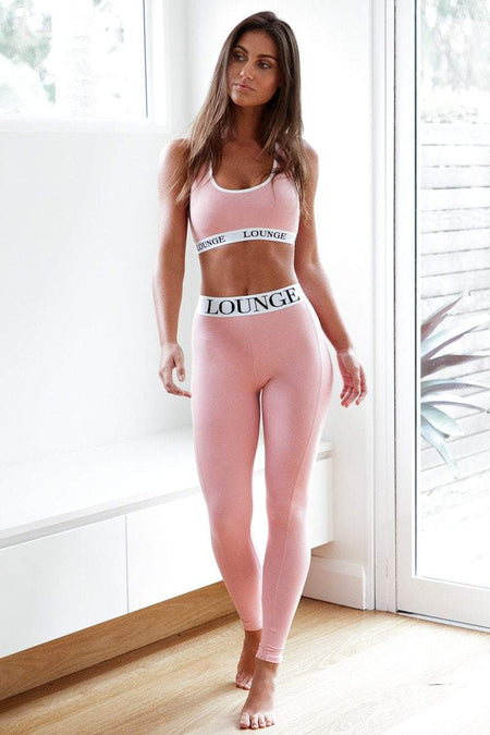 Lounge Apparel | Pink Leggings | High Waisted Leggings
